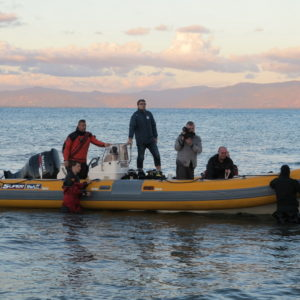 4.10-Návrat z ponoru a kotvení člunu
