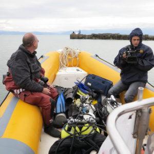 6.10-další ponor na vraku parníku Linz za účasti kameramana albánské telvize
