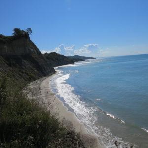 Kepi i Rodonit pláž na severní straně výběžku
