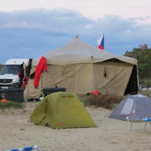 Náš tábor(hlavní stan ačást ubytování)