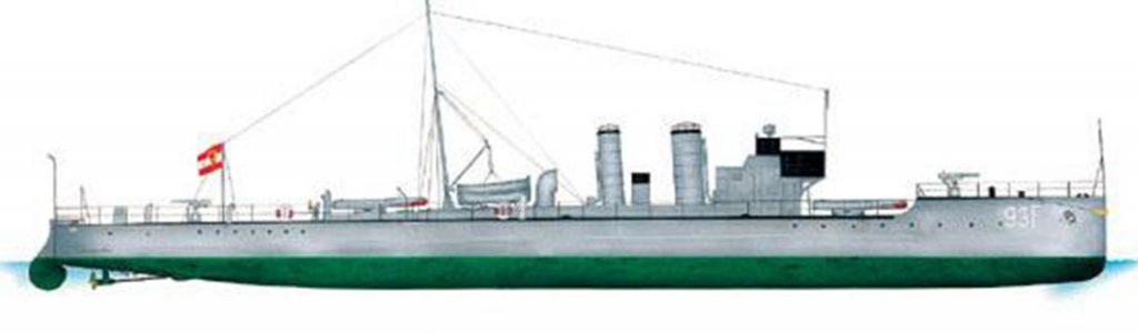 Barevný nátěr Rakousko-Uherských torpédovek (1915-1918)