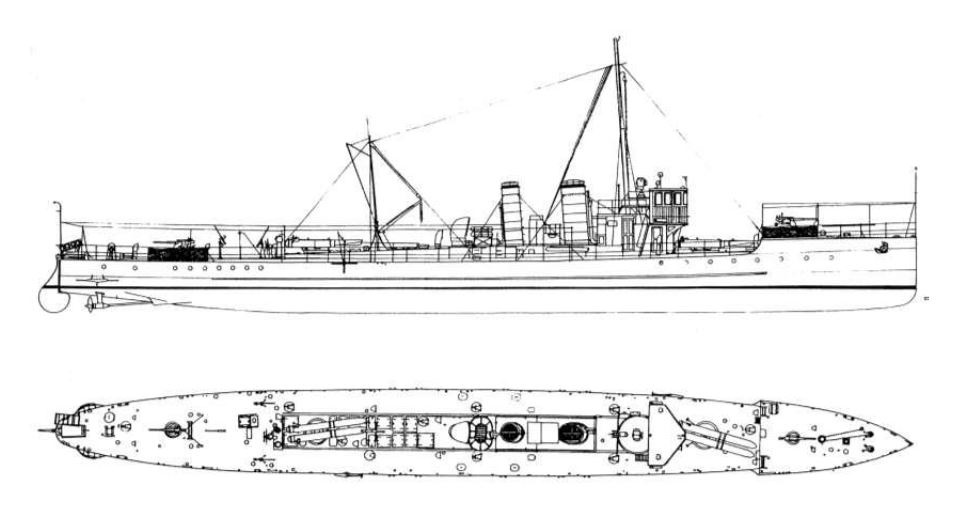 Nákres torpédovky Tb97F (T8)