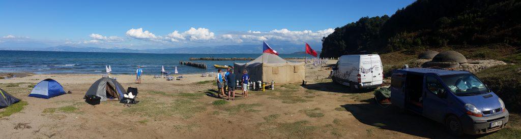 Náš tábor na Kepi i Rodonit
